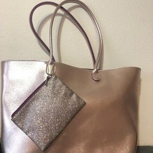 Rose Gold Bath & Body Works Tote/Cosmetic Bag